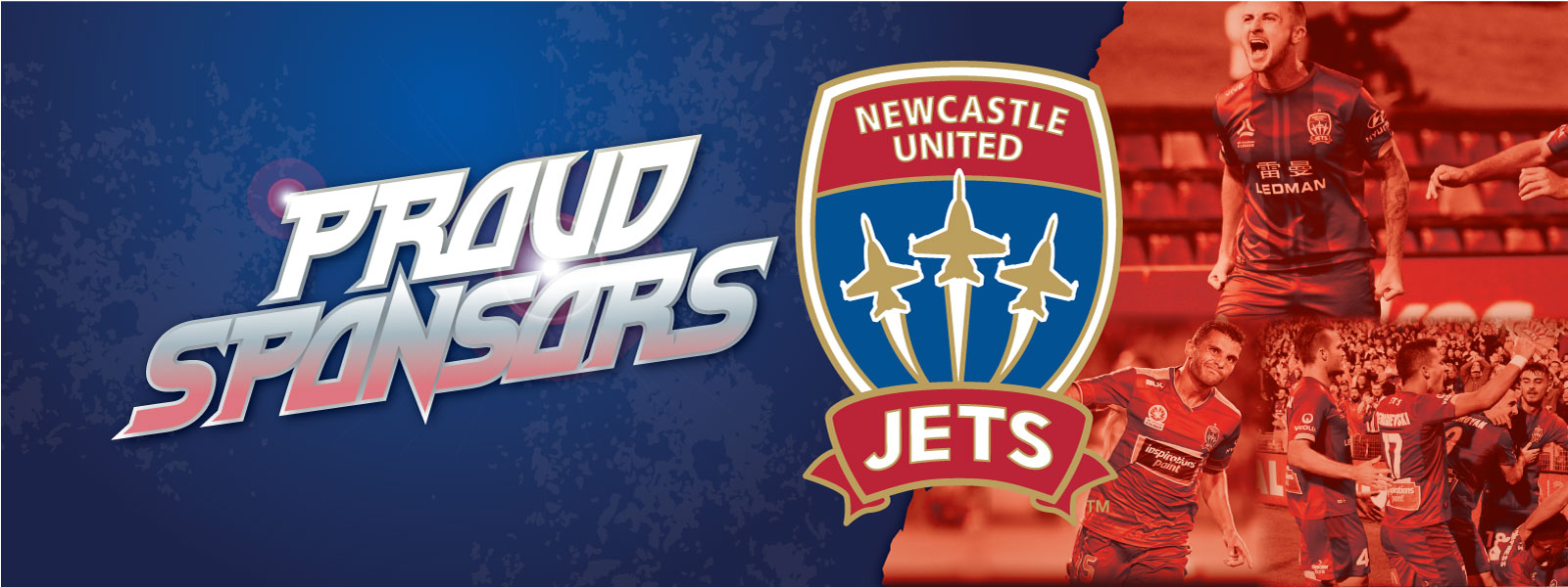 Proud Sponsors Newcastle United JETS